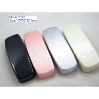 Quality Custom Optical Glasses Case PU Leather / PVC Leather Material With Silk Screen for sale