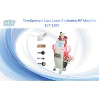 5 In 1 Cryolipolysis Fat Freezing Equipment , Cavitation RF Lipo Laser Fat Removal Machine for sale