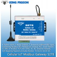 Quality S278 Cellular IoT Modbus Gateway(4DIN,2Relay,1TH,USB,RJ45,RS485,320 Mapping Registers) for sale