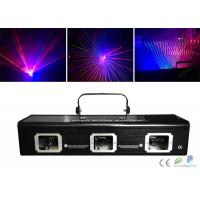 Quality Dmx512 Rgbw 3 Heads Laser Dj Light / Laser Light Show Equipment for sale