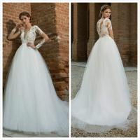 Quality Low back Tulle wedding gown Bridal dress#0413 for sale