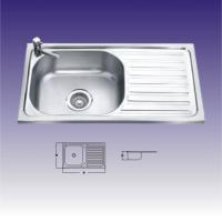 Quality Round Shape Single bowl Stainless Steel Kitchen Sinks With Drainboard for sale