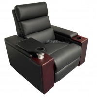 Quality Synthetic Leather Movie Theater VIP Sofa With Rotating Tray for sale