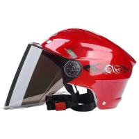 Quality Retro Motorcycle Helmet Fashion Open Half Face Helmet Electric Motorcycle Keep Warm Safe Helmet With CE Certificate for sale