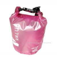 5L  Light-weight Outdoor Waterproof Dry Bags with Silk-screen Print Pink