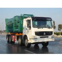 China Steering Wheel Garbage Truck With Slip On Unit / Garbage Disposal Truck on sale