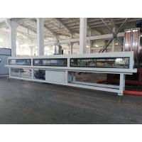 China Low Noise Plastic Pipe Extrusion Machine , Twin Screw PVC Pipe Production Line on sale