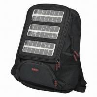 China Solar Backpack, Charger for iPad and Mobile Phone, Automatic Speech Function on sale
