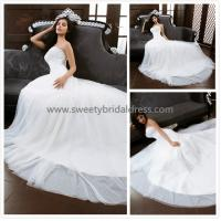 Quality Aline Sweetheart Lace and Satin Wedding Dress XG0016 for sale