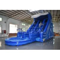 Buy cheap EN14960 certified commercial 18ft dolphin inflatable water slide prices from wholesalers
