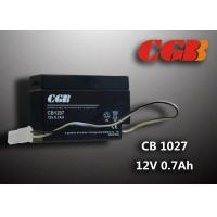 Quality CB1207 Rechargeable Sealed Lead Acid Battery 12 V 0.7Ah , AGM Electronic Battery for sale