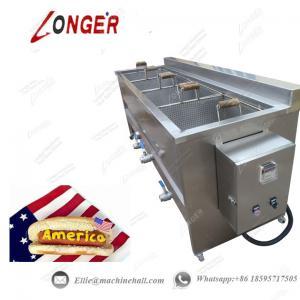 Quality Hot Dog Frying Machine|Automatic Hot Dog Fryer|Stainless Steel Hot Dog Frying Machine|Continuous Hot Dog Frying Machine for sale