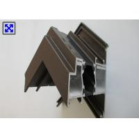 Quality India Style Thermal Break Aluminum Window Profile Brown Powder Coated for sale