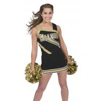 China Custom Black Cheerleading Wear High School Cheerleading Uniforms With Crytal on sale