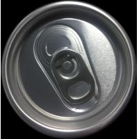 Quality Soft Drink Aluminum Can Lids Custom Carving Round Shape 0.23mm Thickness for sale