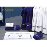 Buy Cotton Bath Foot Towel For Developing Countries Blue Embroidery at wholesale prices