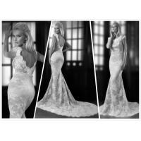 Quality Mermaid bridal gown Low back Lace Capes wedding dress #0030 for sale