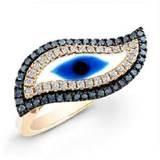 Quality Lovely Light Rose Turkish silver Evil Eye Murano Glass jewelry finger Ring for lady  for sale