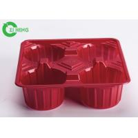 Quality Crack Resistance Disposable Cup Holder Tray For Four Cups 17.6 * 17.6 * 5.1 CM for sale
