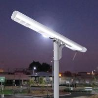 Quality 8000LM Motion Detector Street Lights Remotely Control All In One Lithium Battery Warm White for sale