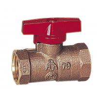 Quality SS9040 Female thread butterfly brass gas valve for sale