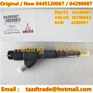 Quality BOSCH Original Injector 0445120067 / 04290987 / 20798683 /4290987 for DEUTZ / VOLVO / KHD for sale