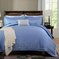 Quality Blue Dyed Solid Bedding Sets For Hotel And Beauty Salon Hypoallergenic for sale