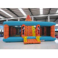 Quality Outdoor Amusment Park Inflatable Rock Climbing Wall 8 X 8m 0.55mm Pvc Tarpaulin for sale