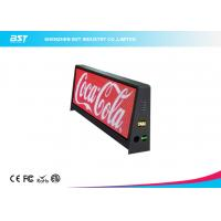 Quality P5mm Taxi Advertising Screens , Waterproof IP65 Taxi Top LED Display 192 X 64 Dot Resolution for sale