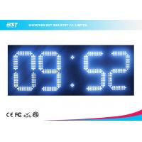 Quality Custom 7 Segment White Led Digital Clock With Temperature Display for sale