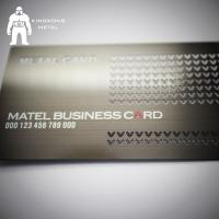 Quality Metal Card Factory Supply Custom Logo Gun Plated Stainless Steel Metal Business Card for sale