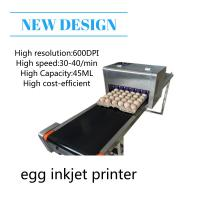 Quality High Performace Egg Jet Printer With Computer Control Dedicated Shuttle Conveyor for sale