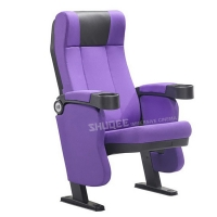 Quality Home Theater Seat Living Room Fabric Recliner Sofa Auditorium Chairs With Cup Holder for sale