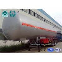 China Customized Logo Diesel Fuel Lpg Tank Trailer 200,000 Liters , Round Shape on sale