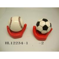 Quality Football And Baseball Ceramic Money Box Bank With Base 10 X 10  X 12 Cm for sale