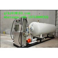 China White OEM Liquefied petroleum/propane gas mobile skid mounted LPG station for Ghana on sale