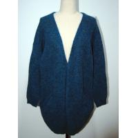 Quality Comfortable Womens Cardigan Sweaters Navy Blue With Two Lower Pockets for sale