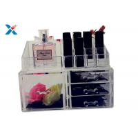 Quality Eco Friendly Acrylic Makeup Organiser With Drawers Display Storage Box for sale