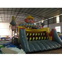Quality New Inflatable Construction Themed Obstacle Course PVC Inflatable Construction Site Subject Obstacle Course outdoor game for sale