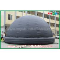 Buy 6m DIA Black Mobile Inflatable Planetarium Dome Projection Tent With Air Blower at wholesale prices