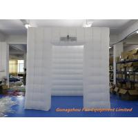 Quality Inflatable Cube LED Bubble Photo Booth White PVC Oxford 3 * 3m for sale