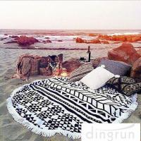 Quality Adults Colorful Round 100 cotton beach towels Large Size 150cm Dry Fast for sale