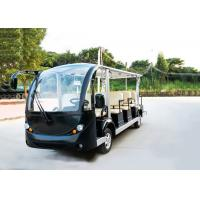 Quality Black 14 Person Electric Sightseeing Bus 7.5KM Motor 72V Electric Sightseeing Car for sale