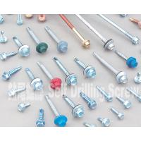 Colored 10 Mm Hex Flange Head Self Drilling Screws , Metal Roofing Screws With Washers for sale