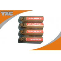 Quality LiFeS2 AAA 1100mAh Lithium Iron Battery , 1.5V for sale