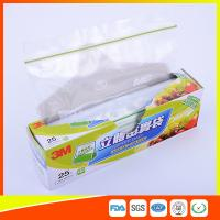 Quality Food Grade Freezer Zip Lock Bags / Zip Top Freezer Bags Customized Printed for sale