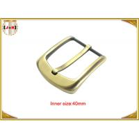 Quality 40mm Gold Custom Zinc Alloy Metal Pin Belt Buckle / Coat Belt Buckle Replacement for sale