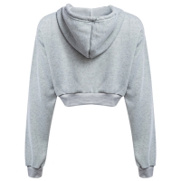 Quality Long Sleeve  Cropped Cotton Drawstring Crop Top Hoodie Pullover for sale