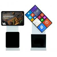 "Quality 43"" 1920x1080 Lcd Wifi 4G Rotating Advertising Kiosk for sale"
