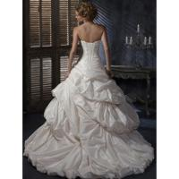 Quality New!!!Ball gown Beach Taffeta wedding dress Lace up back Bridal gown#cache for sale